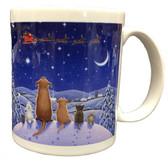 Animals Watching Santa Mug