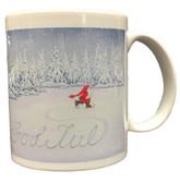Skating Tomte Mug