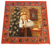 Lefse Girl Tile