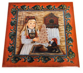 The Kransekake Girl Tile