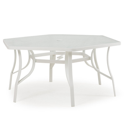 52 Quot Hexagonal Outdoor Dining Table White 1452 Palm