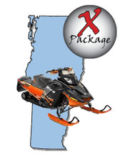 Vermont snowmobile GPS trail map