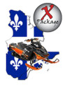 Quebec/New Brunswick GPS trail map for snowmobile trails
