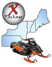 Snowmobile GPS trail map for New England