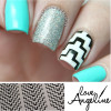 Tribal Chevron Nail Shields by Love Angeline available at Girly Bits Cosmetics www.girlybitscosmetics.com (photo credit: @decorateddigits)