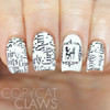 Swatch courtesy of Copycat Claws | GIRLY BITS COSMETICS GBC Plate 1-01 (stamped using Girly Bits Little Black Dress Stamping Polish)