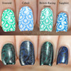 Swatches courtesy of Copycat Claws | GIRLY BITS COSMETICS Emerald Green Stamping Polish