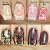 Swatches courtesy of Copycat Claws | GIRLY BITS COSMETICS Flame Stamping Polish
