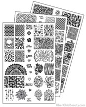 UberChic Nail Stamp Plates - Collection 7 | Available at www.girlybitscosmetics.com