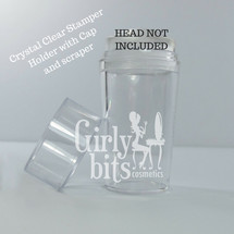 Crystal Clear Stamper Holder with cap (NO STAMPER HEAD)