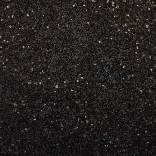 Black Glitter .025 Square | GIRLY BITS COSMETICS