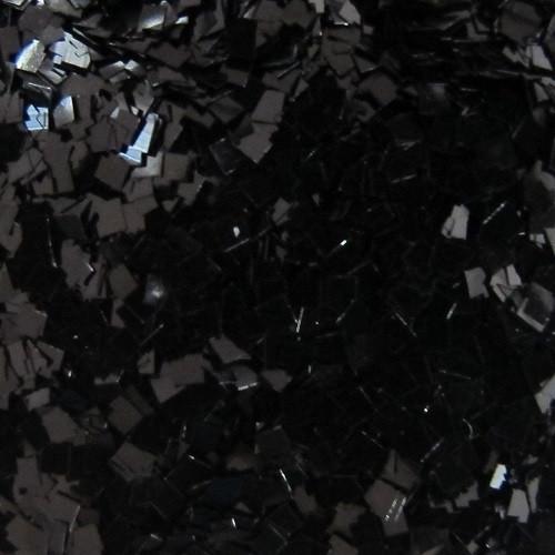 Black Glitter .035 Square | GIRLY BITS COSMETICS
