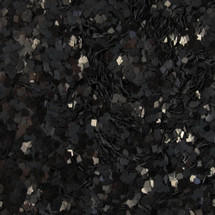 Black Glitter .062 Square | GIRLY BITS COSMETICS