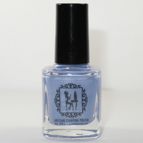 Pardon My Periwinkle stamping polish by Girly Bits Cosmetics