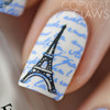 Paris in Love - Uber Mini Nail Stamp Plate | Nail art by Copy Cat Claws