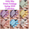 Swatches courtesy of Cosmetic Sanctuary   GIRLY BITS COSMETICS Sweet Nothings Collection