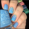 Swatch courtesy of @honeybee_nails | GIRLY BITS COSMETICS Bleu de tes Yeux Sweet Nothings Collection