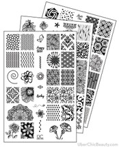 UberChic Nail Stamp Plates - Collection 10