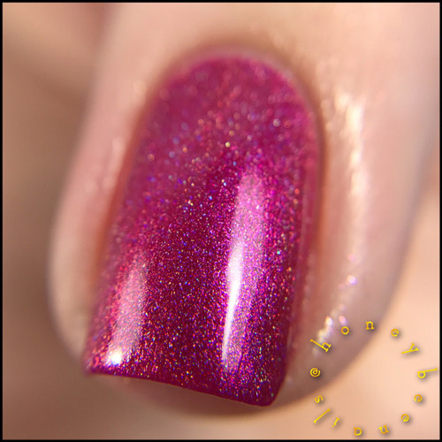 Swatch courtesy of @honeybee_nails | GIRLY BITS COSMETICS The Fuchsia Is Ours (CoTM November 2016)