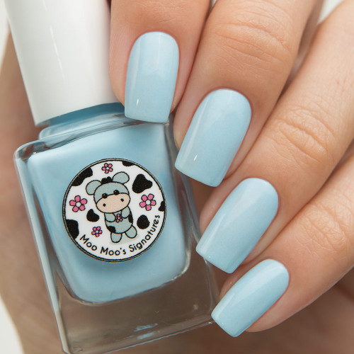 AVAILABLE AT GIRLY BITS COSMETICS www.girlybitscosmetics.com Forget-Me-Not (Rainbow Flowers Bath Collection) by Moo Moo Signatures | Swatch courtesy of @nailsannagorelova