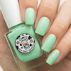 AVAILABLE AT GIRLY BITS COSMETICS www.girlybitscosmetics.com Seafoam Daisy (Rainbow Flowers Bath Collection) by Moo Moo Signatures   Swatch courtesy of @nailsannagorelova