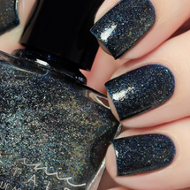 AVAILABLE AT GIRLY BITS COSMETICS www.girlybitscosmetics.com After Dark (From Dusk til Dawn Trio) by Femme Fatale in collaboration with Zlata Anoshina of carrionlimp.blogspot.com & @de_briz | Swatch courtesy of @de_briz