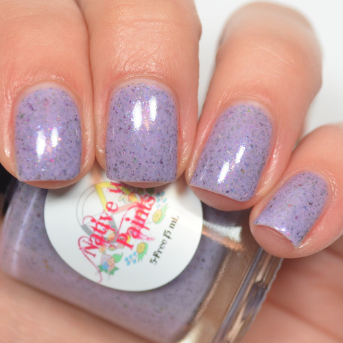AVAILABLE AT GIRLY BITS COSMETICS www.girlybitscosmetics.com Purple Pachyderms and Rainbows (Purple Reign Collection) by Native War Paints | Swatch  provided by @jessface90x