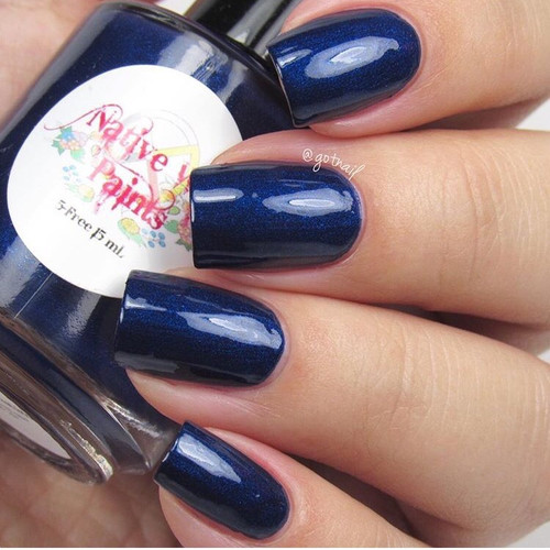 AVAILABLE AT GIRLY BITS COSMETICS www.girlybitscosmetics.com Denim on Denim (Denim - Fall 2016 Collection) by Native War Paints   Swatch  provided by @gotnail