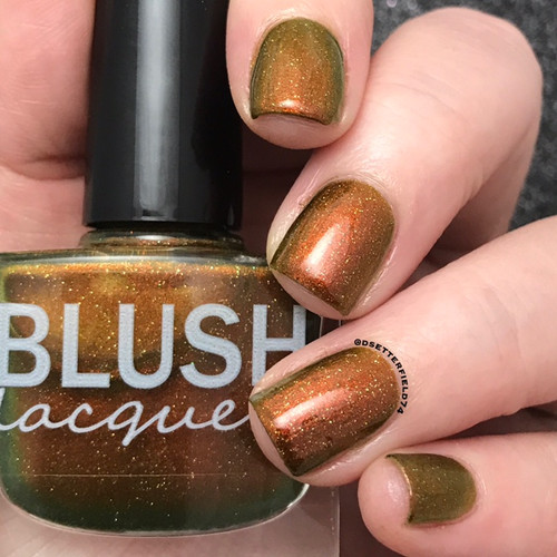 AVAILABLE AT GIRLY BITS COSMETICS www.girlybitscosmetics.com The Golden Hour (Midnight Masquerade Collection) by Blush Lacquers   Photo credit: @dsetterfield74