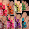 Girly Bits Cosmetics  the Sequins & Satin Pants 7 Piece Collection + GWP | Swatches courtesy of @honeybee_nails