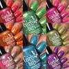 Girly Bits Cosmetics  the Sequins & Satin Pants 7 Piece Collection + GWP | Swatches courtesy of @luvlee226