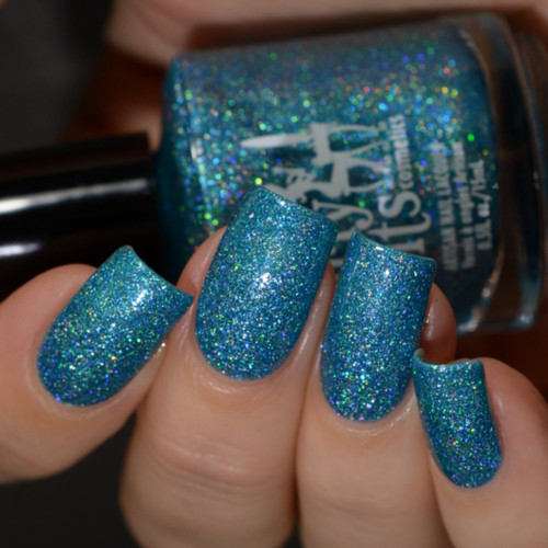 Girly Bits Cosmetics Le Freak from the Sequins & Satin Pants Collection | Swatch courtesy of Delishious Nails