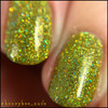 Girly Bits Cosmetics Jive Talkin' from the Sequins & Satin Pants Collection | Swatch courtesy of @honeybee_nails