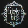 Girly Bits holographic logo t-shirt.