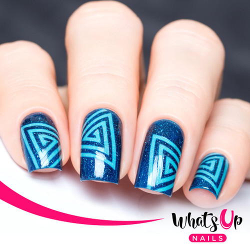AVAILABLE AT GIRLY BITS COSMETICS www.girlybitscosmetics.com Triangle Spiral Tape by Whats Up Nails | Photo credit: IG@solo_nails