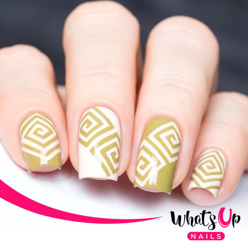 AVAILABLE AT GIRLY BITS COSMETICS www.girlybitscosmetics.com Square Spiral Tape by Whats Up Nails | Photo credit: IG@solo_nails
