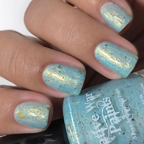 AVAILABLE AT GIRLY BITS COSMETICS www.girlybitscosmetics.com Larkspur of the Moment (Spring Flowers Trio Collection) by Native War Paints | Swatch  provided by IG@polishedbybeckie