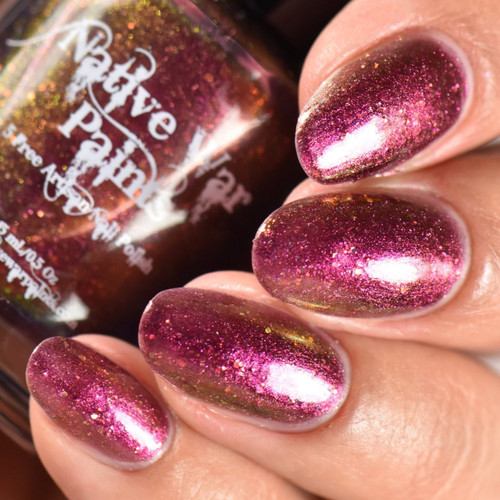AVAILABLE AT GIRLY BITS COSMETICS www.girlybitscosmetics.com Transitional (The Nifty Shifty Collection) by Native War Paints | Swatch  provided by IG@rockyournails