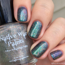 AVAILABLE AT GIRLY BITS COSMETICS www.girlybitscosmetics.com Transitional (The Nifty Shifty Collection) by Native War Paints | Swatch  provided by IG@mrswhite8907