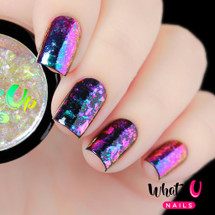 AVAILABLE AT GIRLY BITS COSMETICS www.girlybitscosmetics.com Mystery Flakies by Whats Up Nails