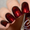 AVAILABLE AT GIRLY BITS COSMETICS www.girlybitscosmetics.com Hearts of Fire (Valentines 2017 Collection) by Colors by Llarowe | Swatch courtesy of Delishious Nails