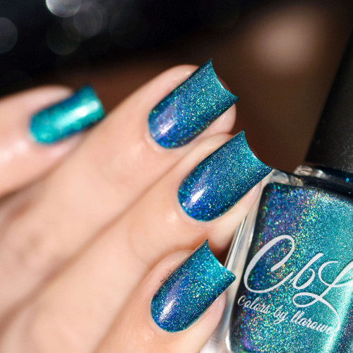 AVAILABLE AT GIRLY BITS COSMETICS www.girlybitscosmetics.com The Deep End - Holo (Spring/Summer 2017 Collection) by Colors by Llarowe | Swatch courtesy of Sakura Nail Art