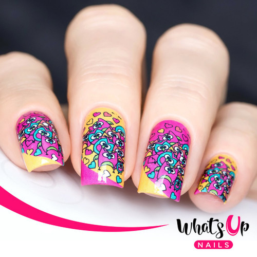 AVAILABLE AT GIRLY BITS COSMETICS www.girlybitscosmetics.com Hoot Do You Love, Pink Water Decals by Whats Up Nails   Photo credit: IG@solo_nails