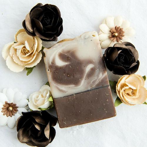 AVAILABLE AT GIRLY BITS COSMETICS www.girlybitscosmetics.com Sandalwood Vanilla Artisan Soap by SoGa Artisan Soaperie