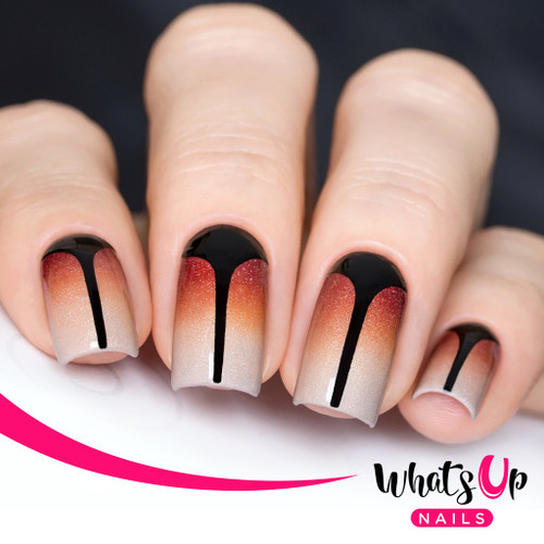 AVAILABLE AT GIRLY BITS COSMETICS www.girlybitscosmetics.com Stiletto Stencils by Whats Up Nails   Photo credit: IG@solo_nails