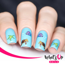 AVAILABLE AT GIRLY BITS COSMETICS www.girlybitscosmetics.com Under the Sea Water Decals Water Decals by Whats Up Nails | Photo credit: IG@solo_nails