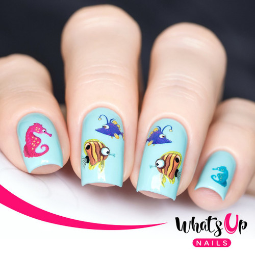 AVAILABLE AT GIRLY BITS COSMETICS www.girlybitscosmetics.com Ocean Bottom Water Decals Water Decals by Whats Up Nails   Photo credit: IG@solo_nails
