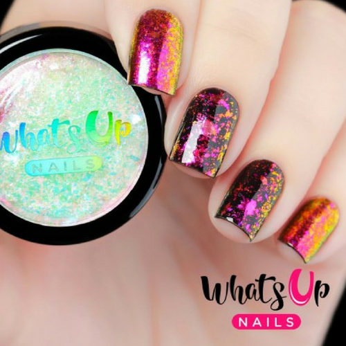 AVAILABLE AT GIRLY BITS COSMETICS www.girlybitscosmetics.com Lipstick Flakies by Whats Up Nails