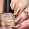 AVAILABLE AT GIRLY BITS COSMETICS www.girlybitscosmetics.com Gilded Fawn (Summer Soiree Collection) by BLUSH Lacquers | Photo credit: @polishandpaws