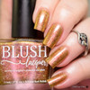 AVAILABLE AT GIRLY BITS COSMETICS www.girlybitscosmetics.com Rose Gold Garden (Summer Soiree Collection) by BLUSH Lacquers | Photo credit: @polishandpaws
